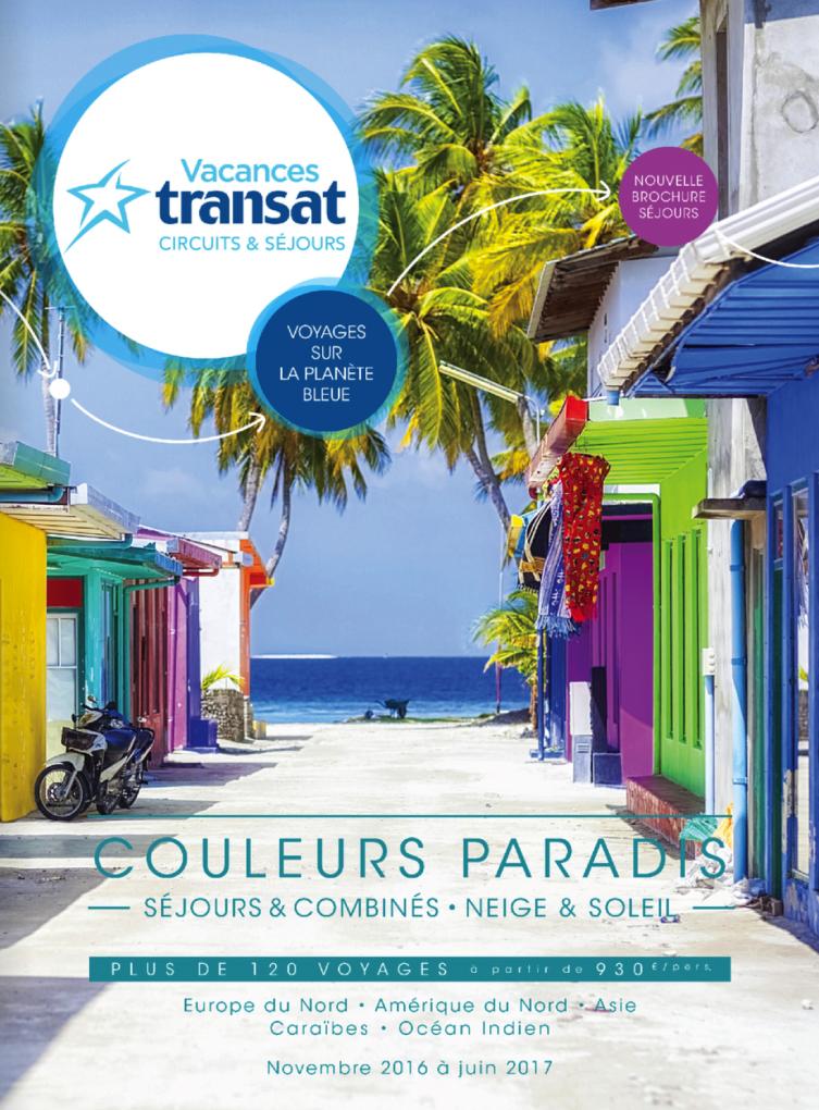 Catalogue Vacances Transat Couleurs Paradis Hiver