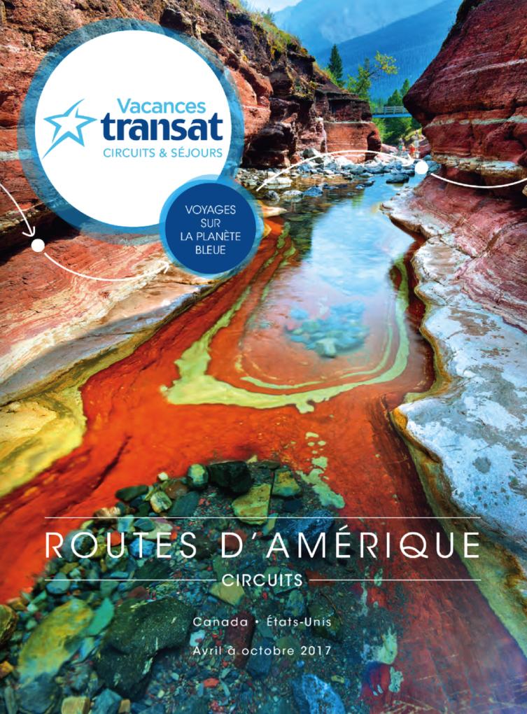 Brochure Vacances Transat Routes d'Amérique