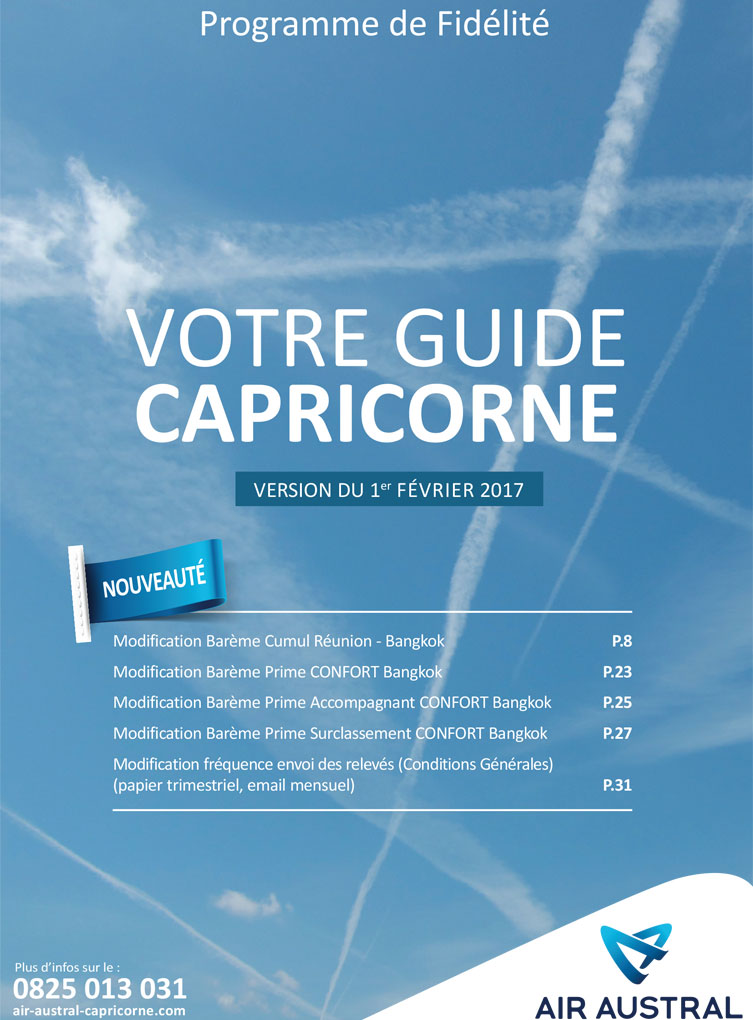 Guide Capricorne d'Air Asutral