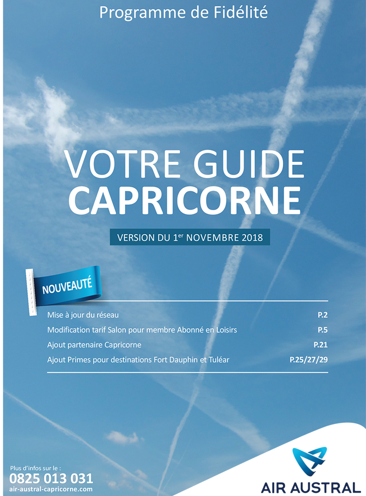 Guide Capricorne d'Air Austral