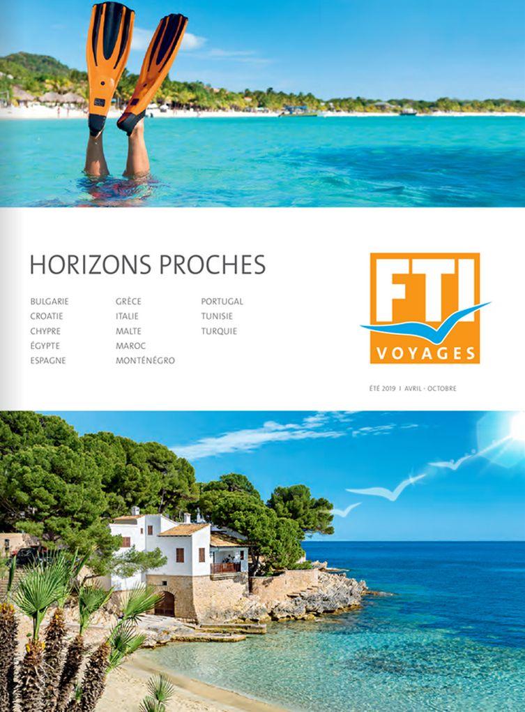 Brochure FTI VOYAGES Horizons proches Eté