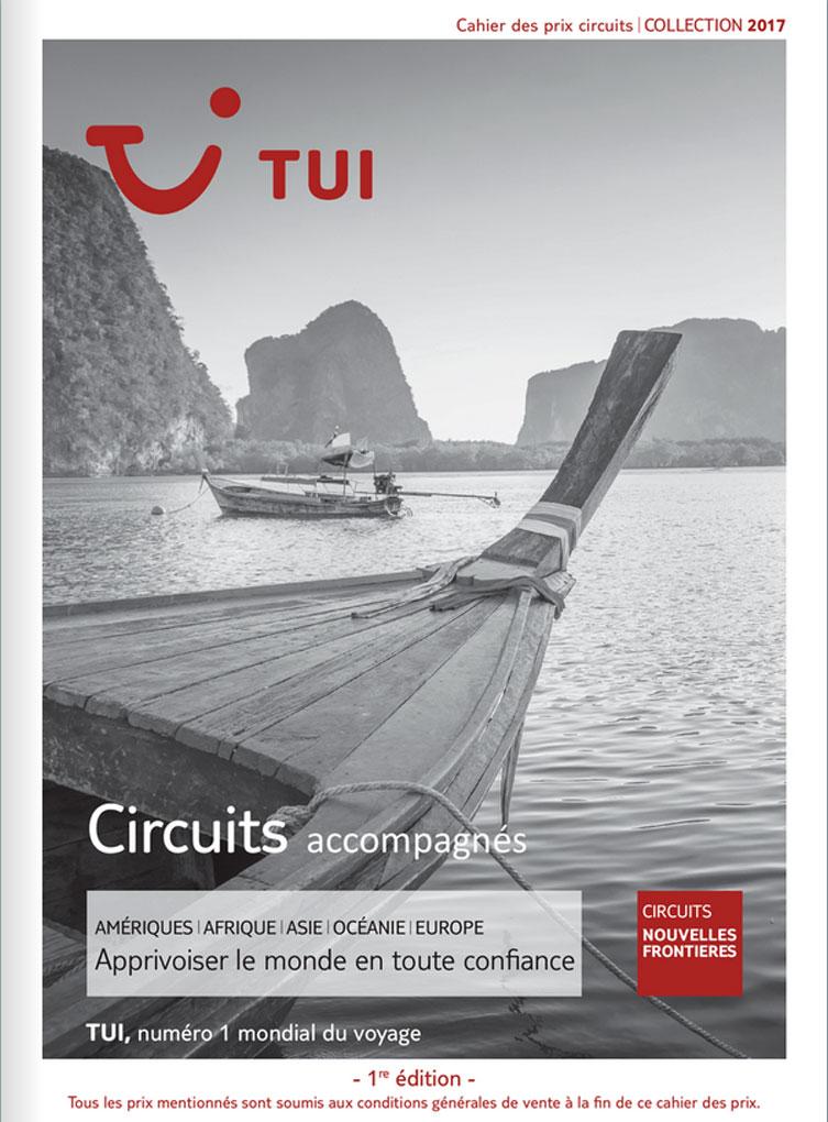 cahier des prix TUI Circuits Nouvelles Frontières