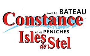 Le bateau Constance et les péniches Isles de Stel