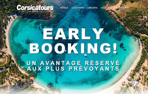 Offre Early booking Corsicatours