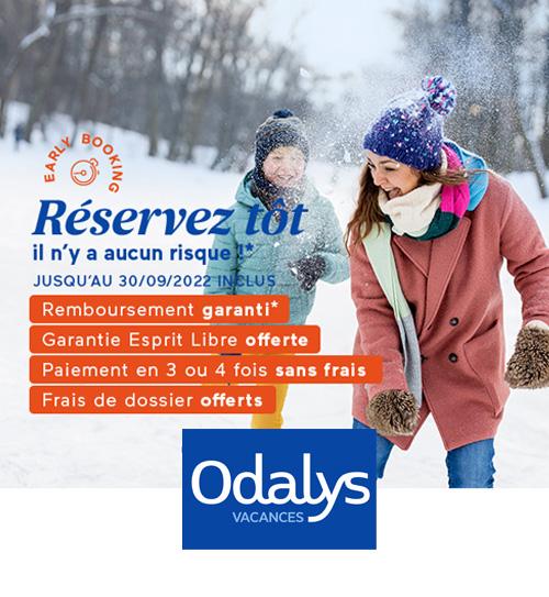 Odalys Vacances - 2 semaines achetées = 1 semaine offerte