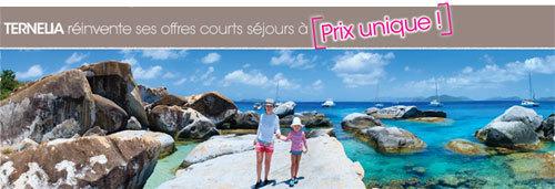 Des courts séjours à prix unique : les offres AINOA de Ternélia