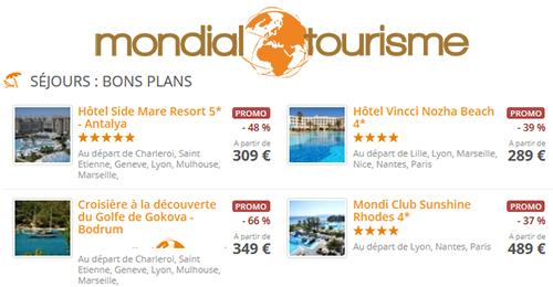 Les bons plans Mondial Tourisme